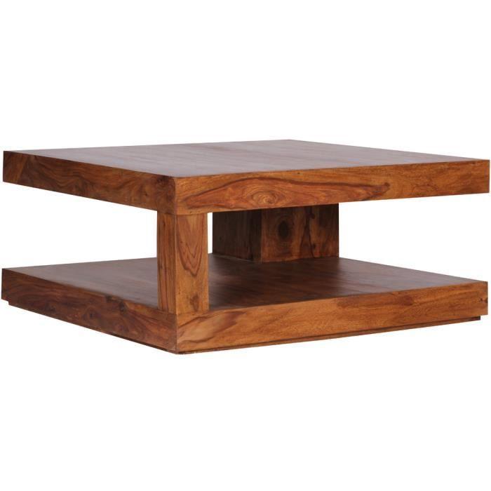 Table basse en bois massif de palissandre h 40 x l 90 x p - Table basse 40 cm largeur ...