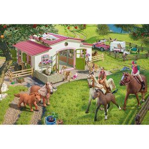 SCHMIDT AND SPIELE Puzzle enfant - Schleich - Promenade ? cheval dans la nature - 100 pcs