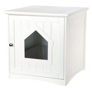 TRIXIE Cabine de toilette - 49x51x51cm - Blanc - Pour chat