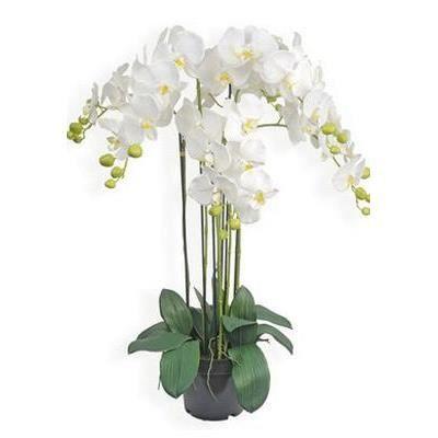 orchid e en pot 90cm hauteur 90 cm achat vente fleur artificielle cdiscount. Black Bedroom Furniture Sets. Home Design Ideas