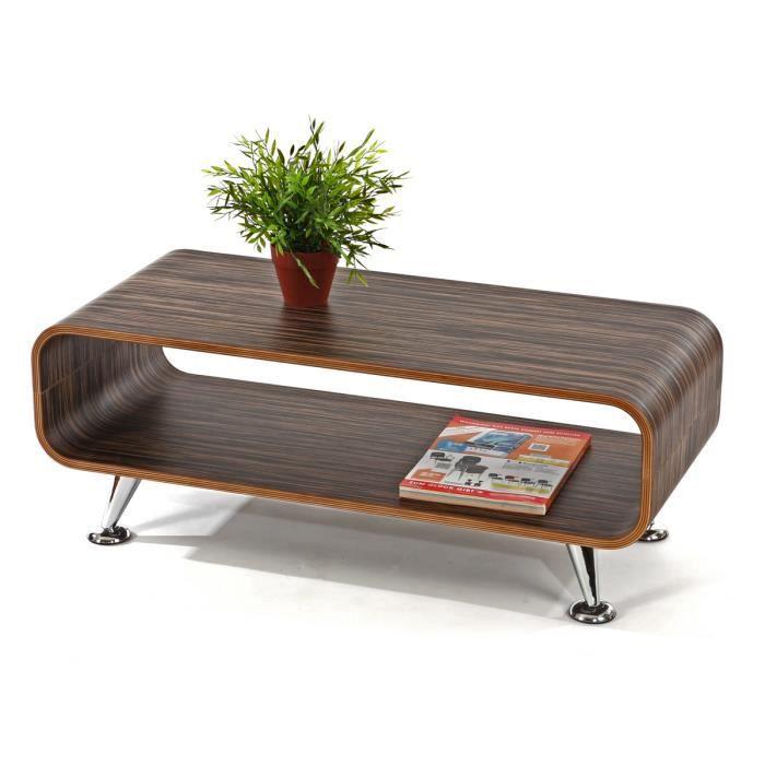 Table basse de salon meuble tv marron fonc achat for Meuble salon marron