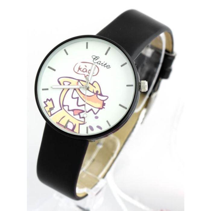 montre femme bracelet cuir noir caite 1184 noir classique achat vente montre cdiscount. Black Bedroom Furniture Sets. Home Design Ideas