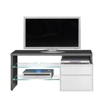 Meuble tv media home home cin ma laqu noir blanc achat vente meuble tv m - Meuble tv home cinema ...