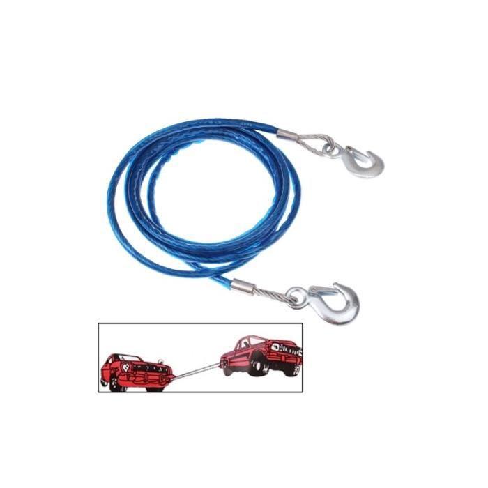 cable acier de remorquage pour voiture de 4 m tres 5 tonnes achat vente barre de remorquage. Black Bedroom Furniture Sets. Home Design Ideas