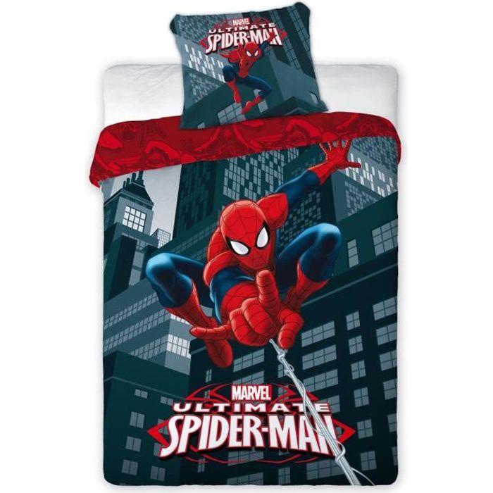 Spiderman parure de couette enfant 1 housse de couette - Parure de lit spiderman 1 personne ...