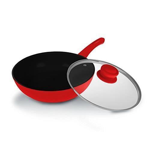 Lamart k2870 rb po le wok en c ramique achat vente wok lamart k2870 rb po - Lagostina poele ceramique ...