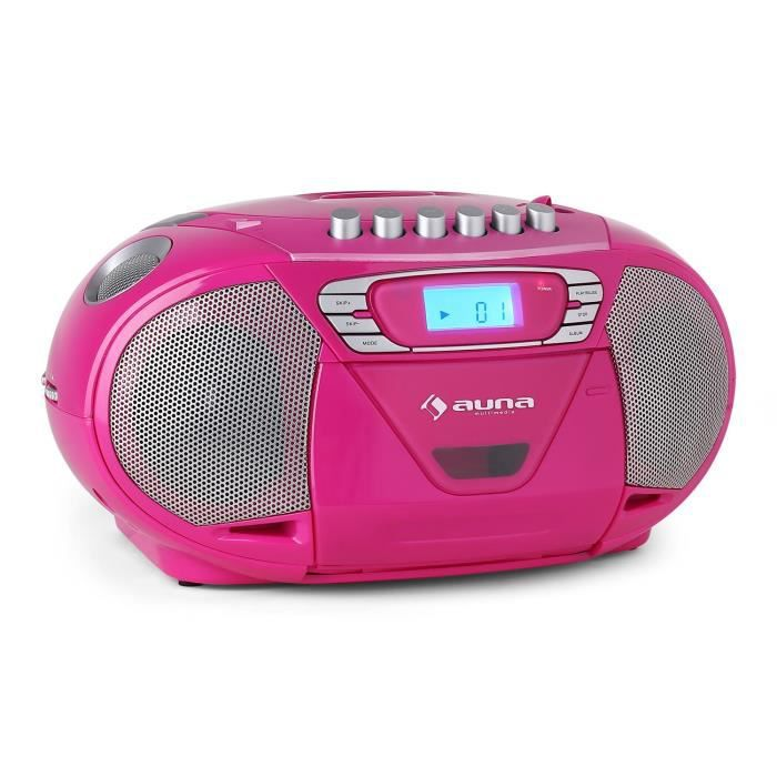 auna krisskross poste radio cassette portable avec. Black Bedroom Furniture Sets. Home Design Ideas