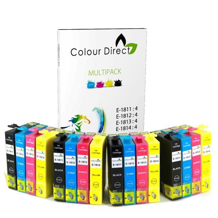16 colourdirect cartouche d 39 encres pour epson expression home xp102 xp202 xp212 xp215 xp205 xp30. Black Bedroom Furniture Sets. Home Design Ideas