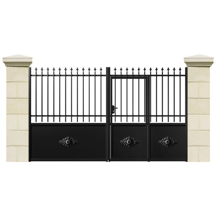 portail battant cuba fer 3 m achat vente portail portillon cdiscount. Black Bedroom Furniture Sets. Home Design Ideas