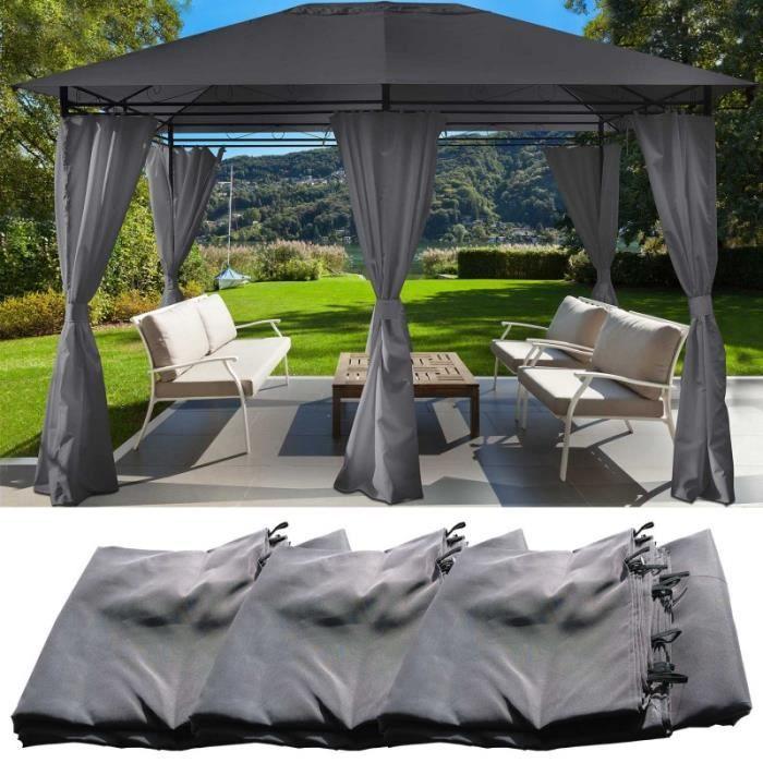 rideaux terrasse achat vente rideaux terrasse pas cher cdiscount. Black Bedroom Furniture Sets. Home Design Ideas