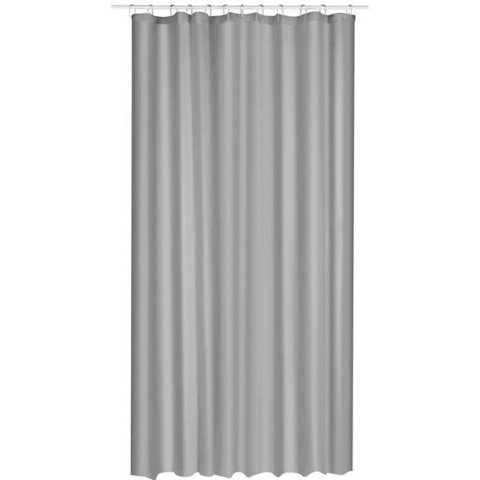 rideau de douche eva 180 x 200 cm gris achat vente rideau de douche cdiscount. Black Bedroom Furniture Sets. Home Design Ideas