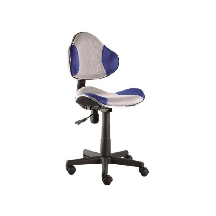 Justhome q g2 chaise fauteuil de bureau bleu gris 84 95 x 48 x 41 cm acha - Meilleure chaise de bureau ...