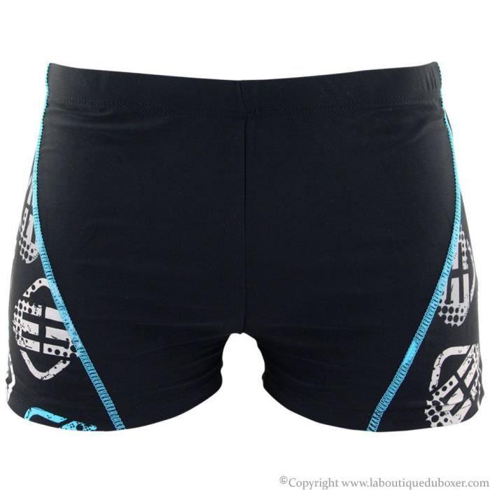 freegun boxer bain moulant homme log15 bleu noir achat vente maillot de bain les soldes. Black Bedroom Furniture Sets. Home Design Ideas