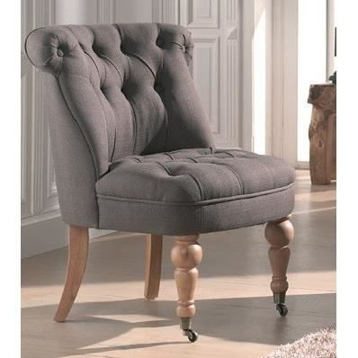 fauteuil crapaud roulette capitonn lin taupe achat. Black Bedroom Furniture Sets. Home Design Ideas