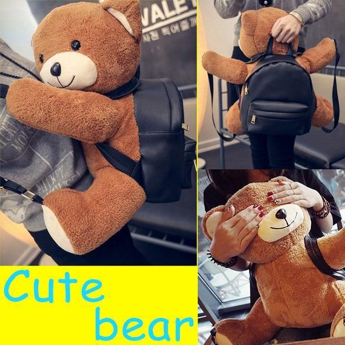Joli dessin l 39 ours en peluche de sac dos pour enfants femme achat vente sac dos - Dessin ours en peluche ...