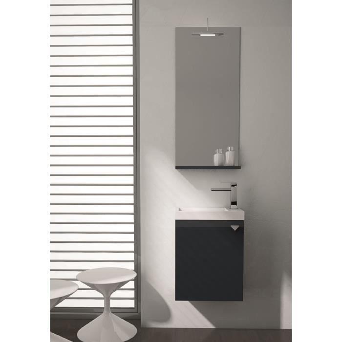 appia meuble pour salle de bains avec vier et miroir avec finition gris anthracite brillant. Black Bedroom Furniture Sets. Home Design Ideas