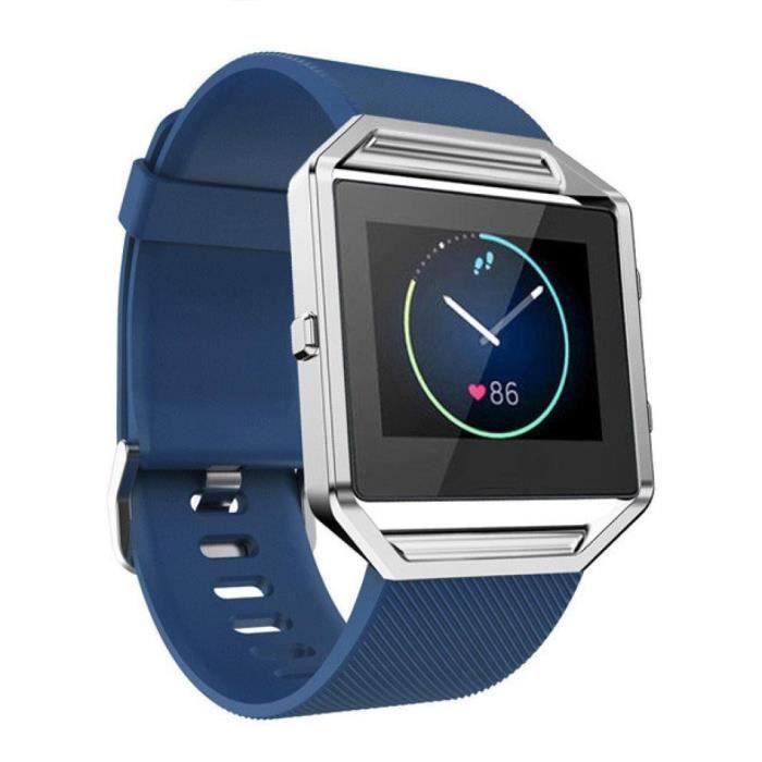 fitbit blaze souple en silicone remplacement sport montre bracelet band bleu achat vente. Black Bedroom Furniture Sets. Home Design Ideas
