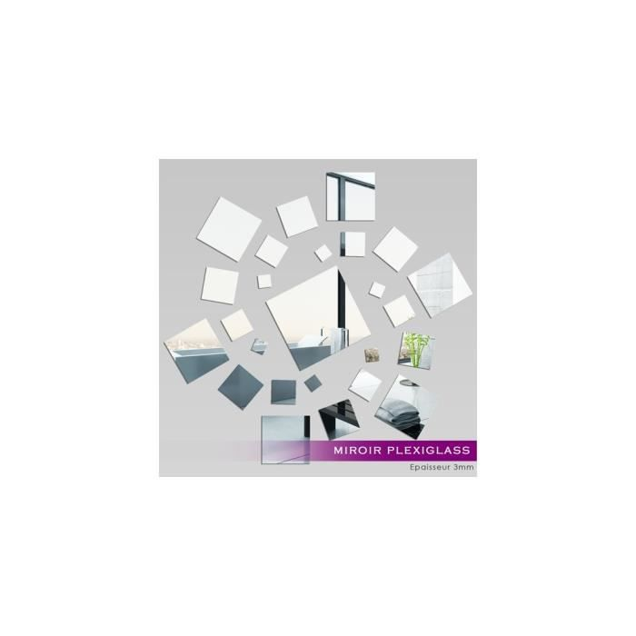 Miroir plexiglass acrylique carr spirale ref mir 124 for Miroir acrylique