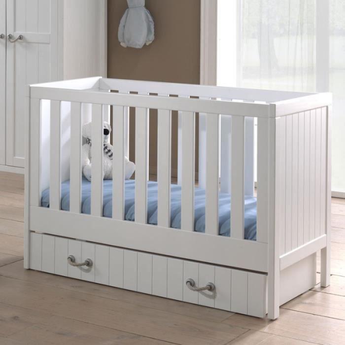 Chambre b b compl te en pin massif blanc laqu marin blanc laqu achat - Cdiscount chambre bebe complete ...