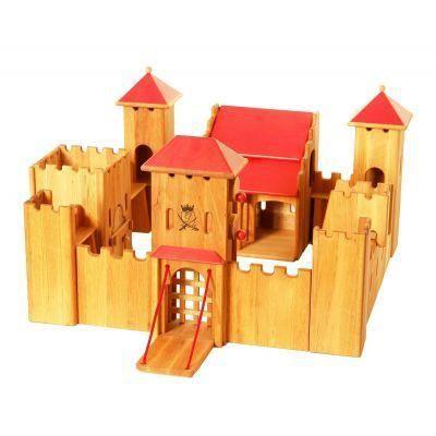 jouet en bois chateau fort lot 80x80x49 achat vente univers miniature cdiscount. Black Bedroom Furniture Sets. Home Design Ideas