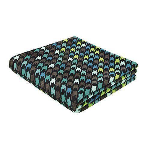 b home biederlack couverture couvre lit 150 x 200 cm pied de poule gris turquoise druck. Black Bedroom Furniture Sets. Home Design Ideas