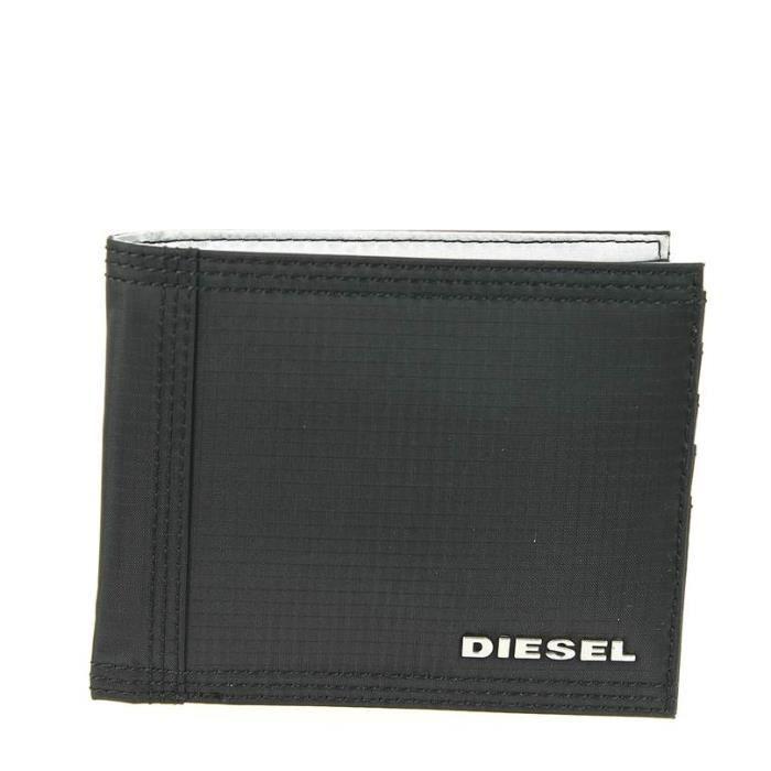 Portefeuille homme diesel processor output noir 12 5 l x 10 h x 1 5 e cm noir multi - Porte monnaie homme diesel ...