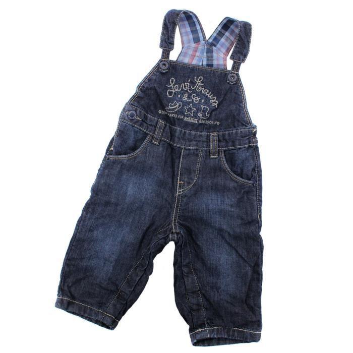 salopette en jeans b b levis na indigo bleu achat. Black Bedroom Furniture Sets. Home Design Ideas