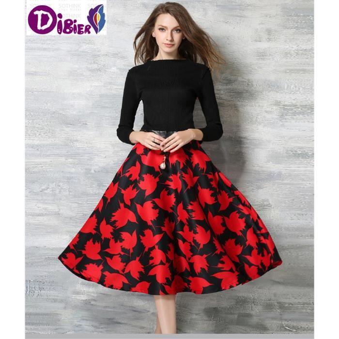 2016 Hot Sale Robe Femmes Printemps Automne Hiver Robe Mode Vintage Vestidos Plus Size Print Fleurs Mesdames Robes