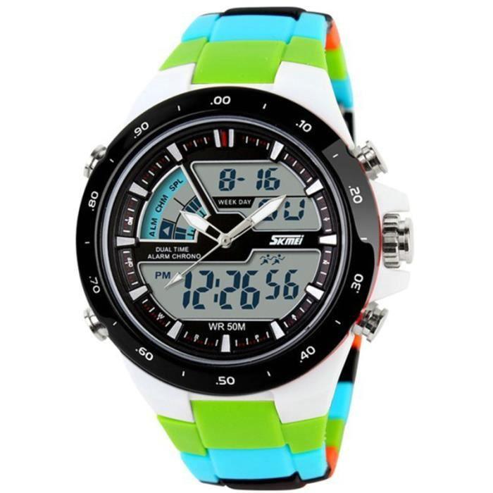 color montre homme de marque mode imperm able le sport num rique de led horloge militaire. Black Bedroom Furniture Sets. Home Design Ideas