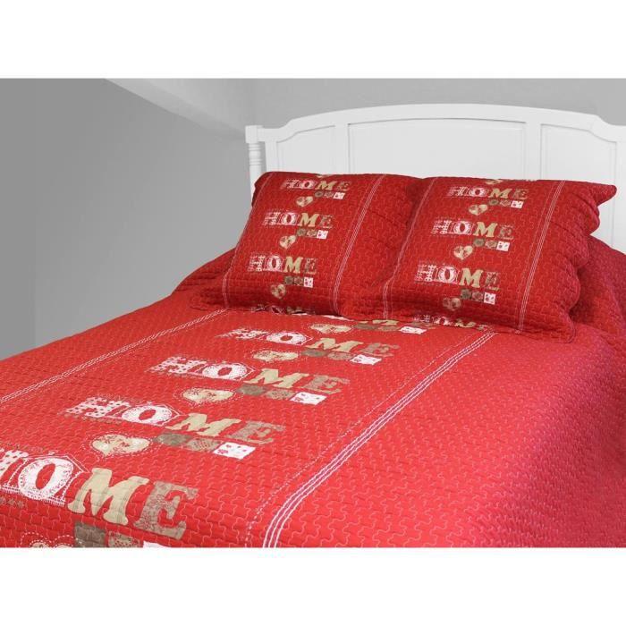 boutis 220x240 rouge achat vente boutis 220x240 rouge pas cher les soldes sur cdiscount. Black Bedroom Furniture Sets. Home Design Ideas
