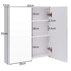 Armoire salle bain murale avec miroir une porte achat for Armoire de toilette miroir pas cher