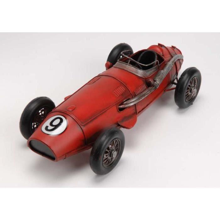 vieille voiture en m tal rouge dimensions hau achat. Black Bedroom Furniture Sets. Home Design Ideas