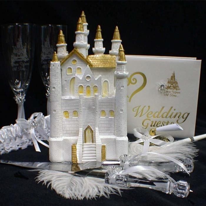 Figurine Mariage Chateau de Cendrillon, Livre dor, Porte-stylo ...