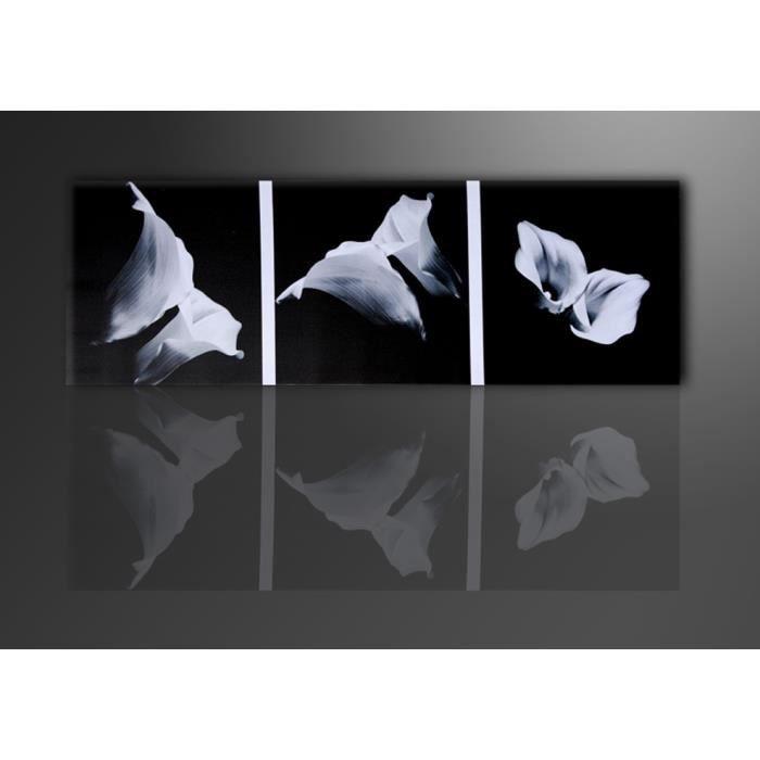 Tableau moderne imprim 120x40 cm fleurs achat vente for Tableau imprime sur verre