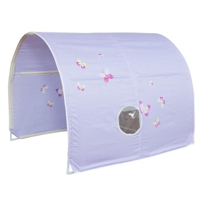 tunnel pour lit enfant superpos tente accessoires violet. Black Bedroom Furniture Sets. Home Design Ideas