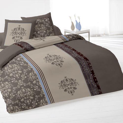 housse de couette et deux taies miskolc gris achat vente parure de lit cdiscount. Black Bedroom Furniture Sets. Home Design Ideas