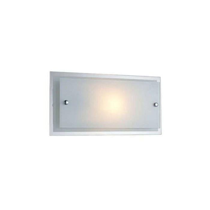 Applique moderne 1 lumière QUBE Blanc - Achat / Vente Applique ...