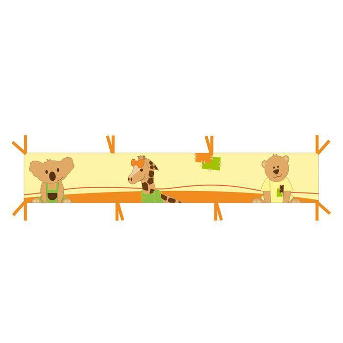 dodo d 39 amour tour de lit jungle beige et orange achat vente tour de lit b b 3301040529030. Black Bedroom Furniture Sets. Home Design Ideas
