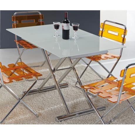 volo table basse relevable et extensible en verre blanc. Black Bedroom Furniture Sets. Home Design Ideas