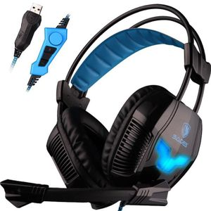 CASQUE  - MICROPHONE A30S machine USB Pro Stereo Gaming Headset Bandeau