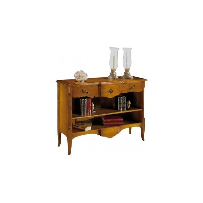 petite biblioth que ouverte galb e 1 tag re 3 tiroirs achat vente biblioth que petite. Black Bedroom Furniture Sets. Home Design Ideas