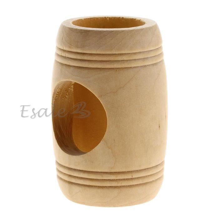 tunnel tonneau nid abri jouet jeu bois pour rongeur hamster lapin chinchilla achat vente. Black Bedroom Furniture Sets. Home Design Ideas