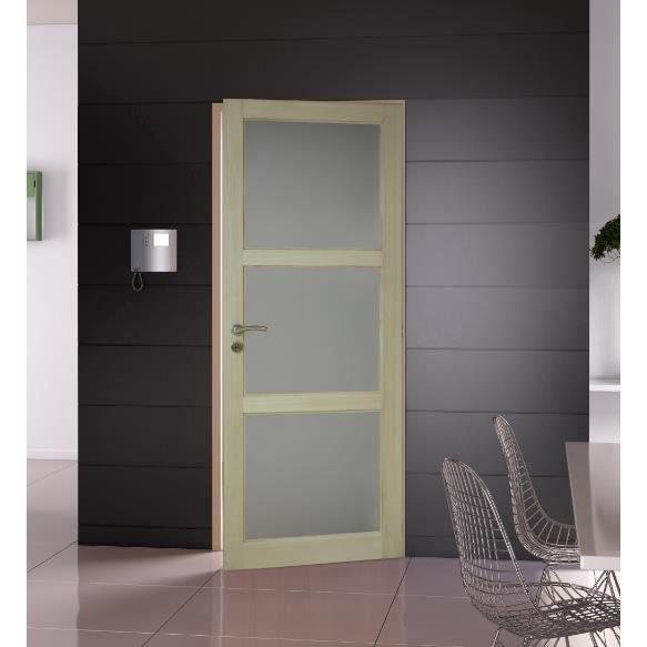 bloc porte en paulownia 3 miroirs largeur 83 cm gauche achat vente porte d int 233 rieur bloc