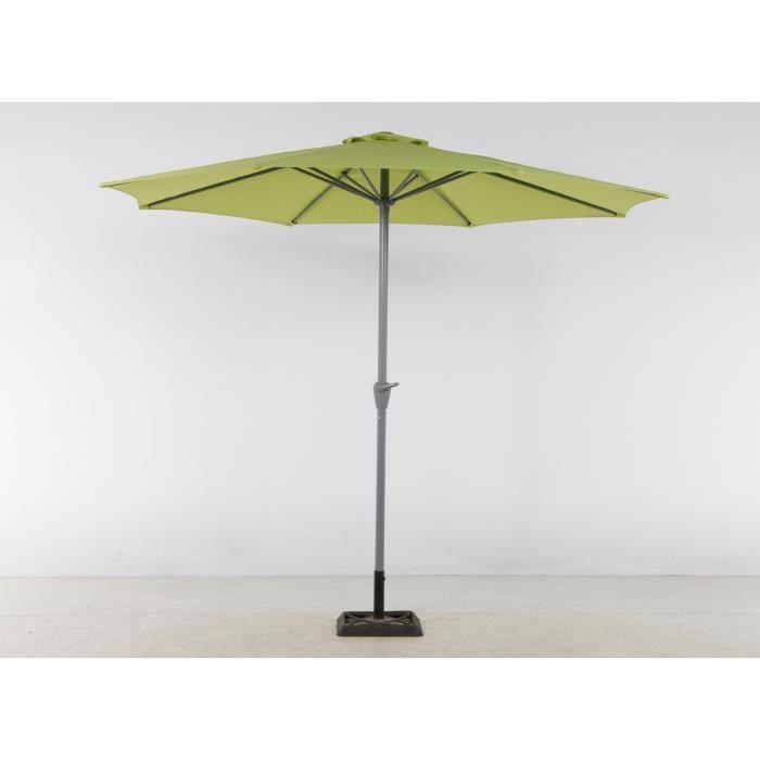 Parasol aluminium rond fidji pistache 3 m achat vente parasol parasol a - Parasol chauffant brico depot ...