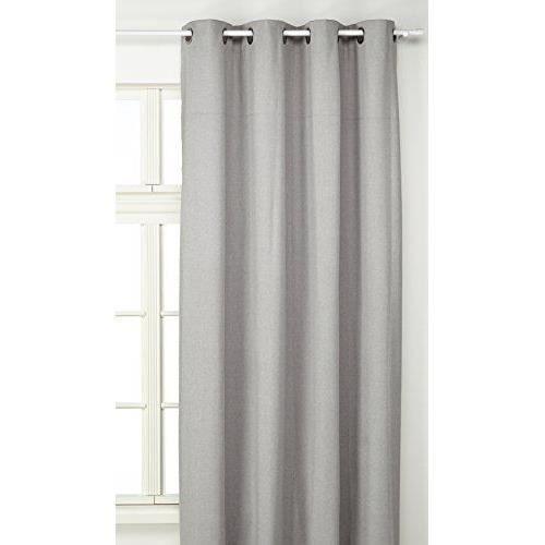 linder 0552 90 375fr rideau occultant oxford gris ciment oeillets 140 x 240 cm achat vente. Black Bedroom Furniture Sets. Home Design Ideas