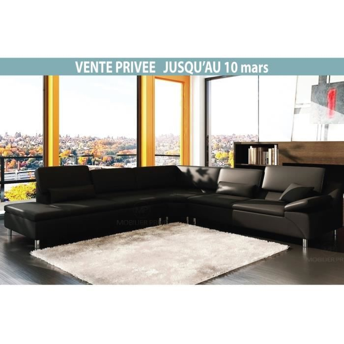 Canap d 39 angle en cuir italien 6 7 places plenitude for Canape angle 6 7 places