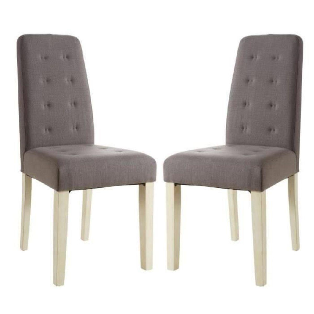 Alvis lot de 2 chaises de salle manger 45x58x95 cm for Chaises salle a manger taupe