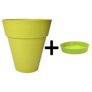 pot de fleur exterieur de couleur vert achat vente pot de fleur exterieur de couleur vert. Black Bedroom Furniture Sets. Home Design Ideas