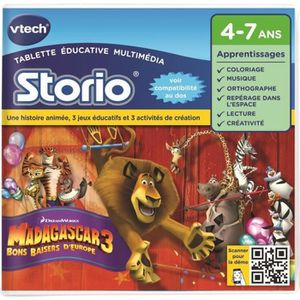 JEU CONSOLE EDUCATIVE VTECH Jeu Educatif Storio Madagascar 3