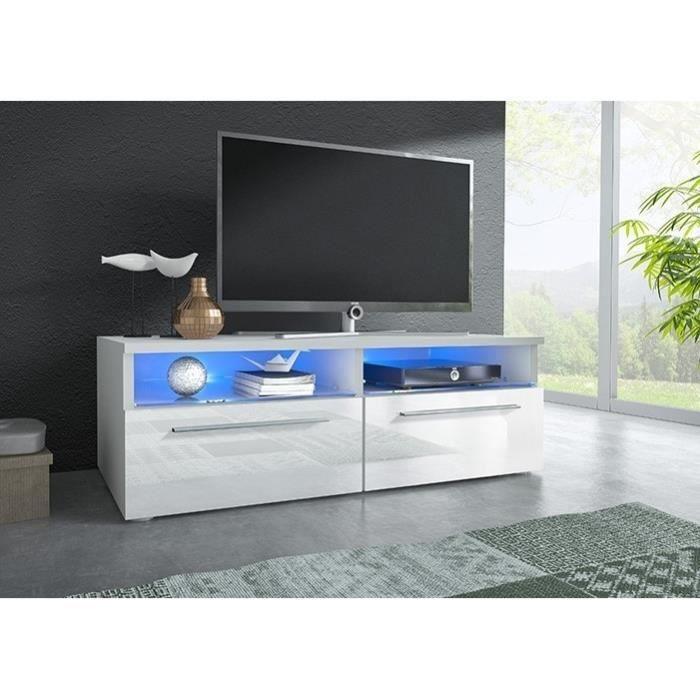 tv mueble mural siena noir gris blanc livraison